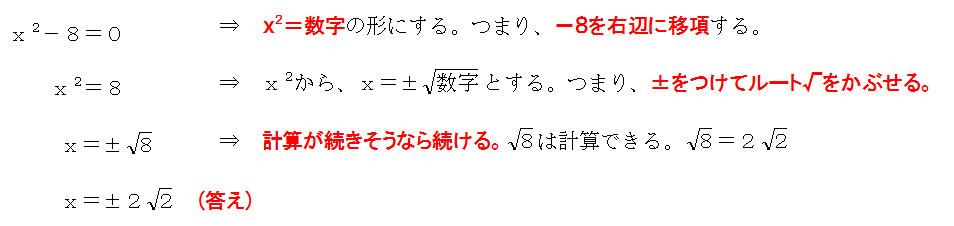 二次方程式の解き方