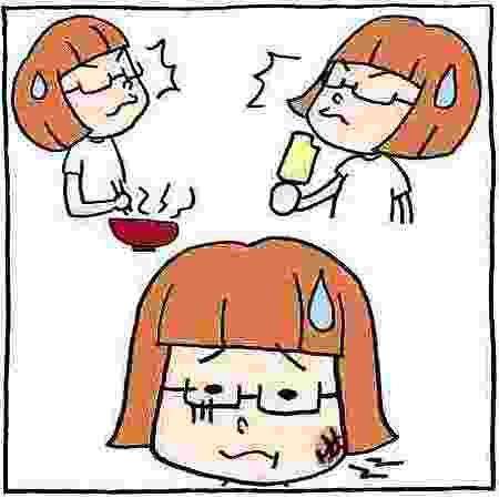 口内炎の原因、熱いものや冷たいものを食べる