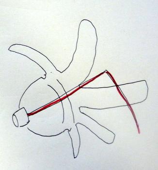 ペットボトル風車(作り方)