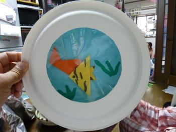 紙皿の水族館