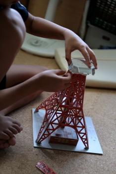 東京タワー工作・夏休み