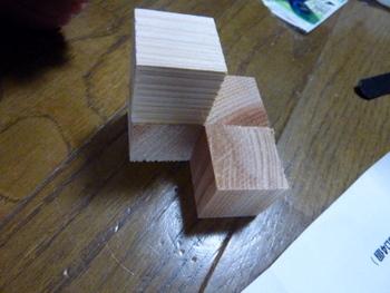 立体パズルの工作