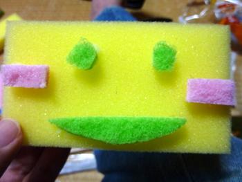 ロボットの顔作り