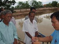 カンボジア ブッタの池 4