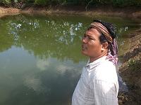 カンボジア ブッタの池 8