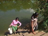 カンボジア ブッタの池 7