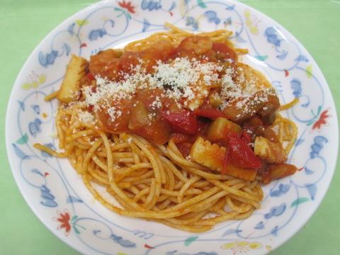 8.20夏野菜のトマトパスタ