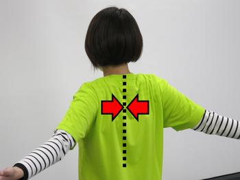 肩甲骨寄せる