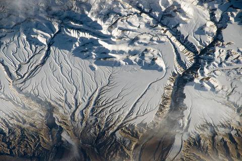 ヒマラヤ山脈中国とインドの国境付近