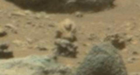 古代火星人兵士像