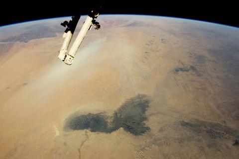サハラ砂漠とチャド湖
