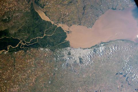 アルゼンチンのパラナ川