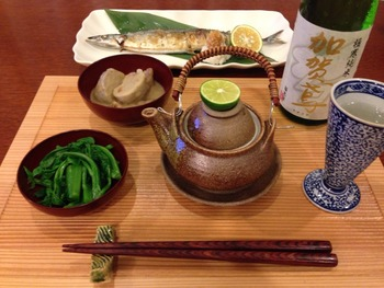 土瓶蒸しと秋刀魚