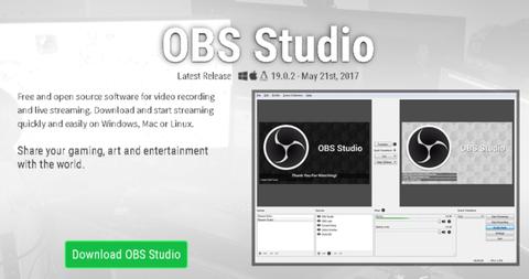 OBS Studio DL画面