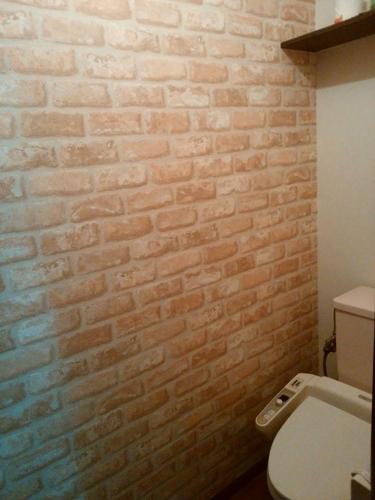 シェアハウスのトイレ壁紙張替え 第二弾