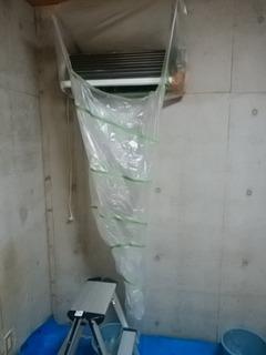 シェアハウスでエアコン清掃