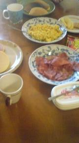 朝食をシェア