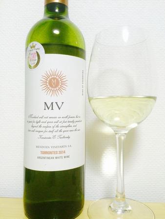 サクラアワード ダブルゴールド賞 アルゼンチン 白ワイン MVトロンテス 2014