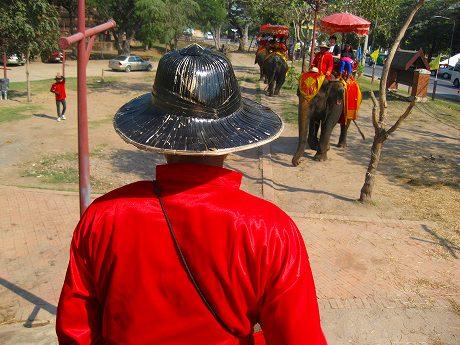 年末年始タイ旅行2012-2013 6日目 ~古都アユタヤで象に乗るゾウ♪散策にはエレファントライド&レンタルバイクがオススメ!~