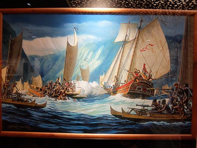 ハワイの歴史がわかる絵画
