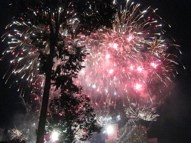 2011年→2012年、クアラルンプール(マレーシア)での年越しカウントダウン花火