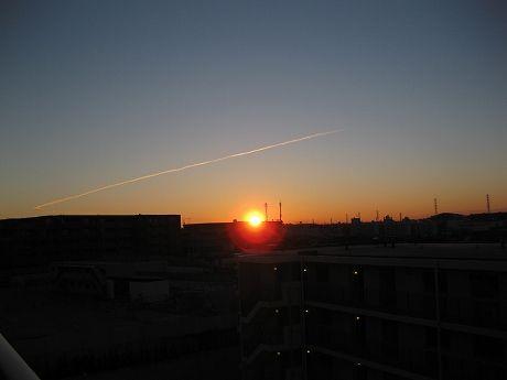自宅から見る2011年の初日の出