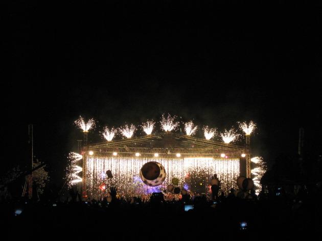 2013年→2014年、ヤンゴン(ミャンマー)での年越しカウントダウン花火