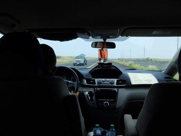 タクシーで空港へ