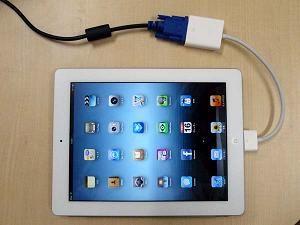 iPadとVGAケーブル