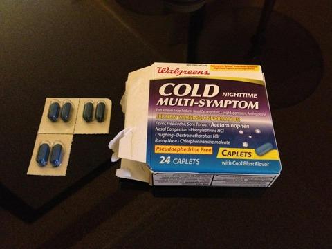 アメリカで買った風邪薬