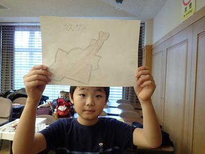 サメの絵描いたよ20191215よろず「魚PC150087