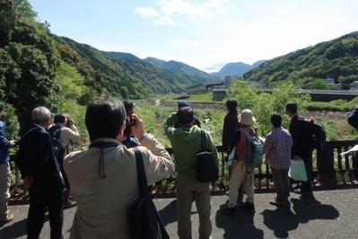 太閤橋より中央火口丘を見る