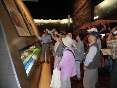 埼玉県立自然の博物館展示品解説風景
