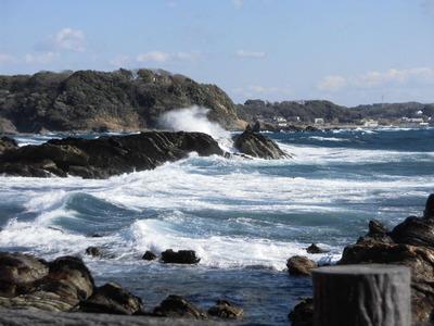 荒崎海岸の大波