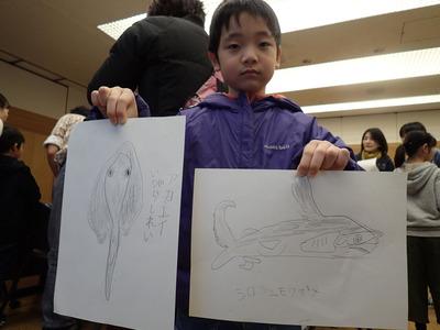 サメの絵描いたよ20191215よろず「魚PC150108