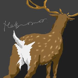 鹿の後ろ姿