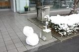 500号館前の雪だるま
