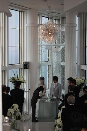 会長結婚式(スカイチャペル)