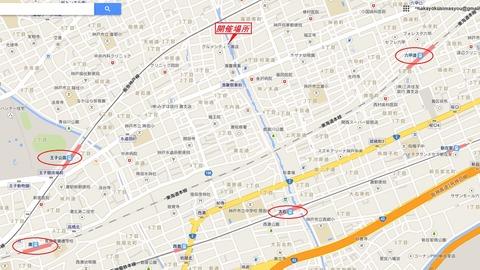 バーベキュー会場地図