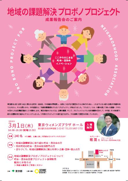 東京都プロボノ成果発表会