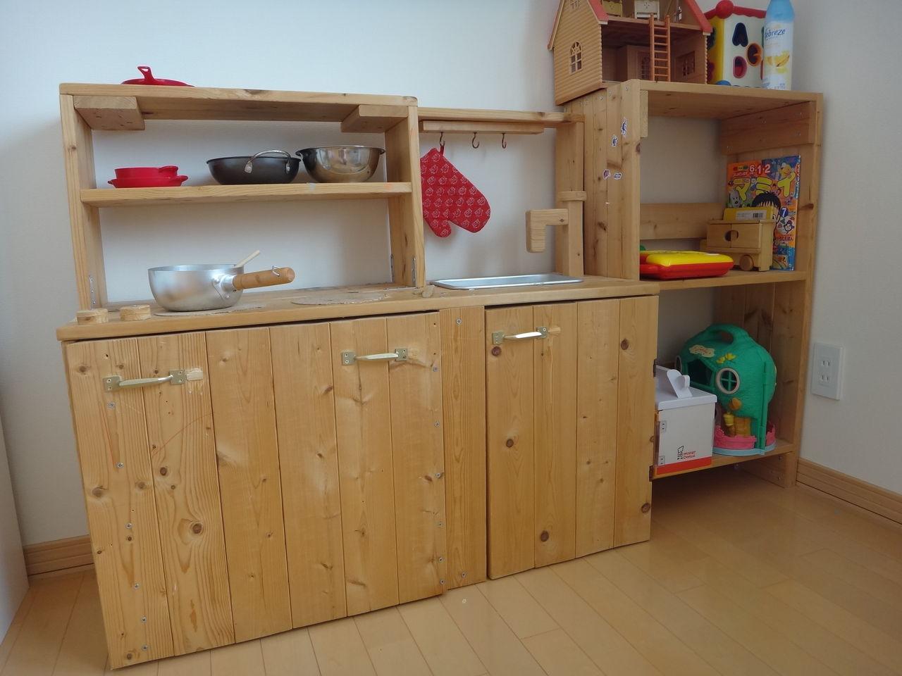 ×4材で作る、子供キッチン ...