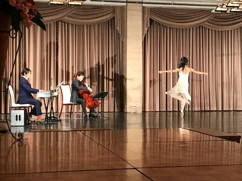 チェロ・ピアノ・バレエのコラボ
