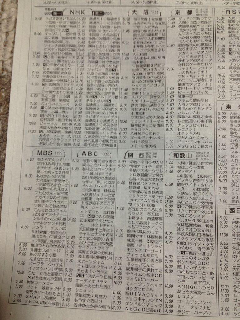 寺りんのfreetalkblog  今日から産経新聞のラテ欄がリニューアル!