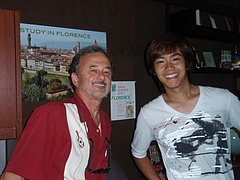 NIC Daisuke w/Aleks (DVC International Office Director)