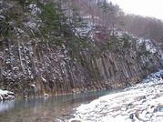 松川・玄武岩