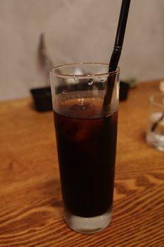 石川町にあるカフェ「ゾウリカフェ」のアイスコーヒー