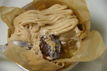 横浜鶴見のケーキショップ「パティスリー ラプラス」のモンブラン