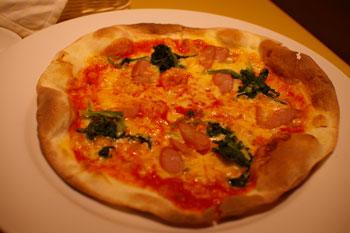横浜モアーズのレストラン「トラットリア パパミラノ」のピザ