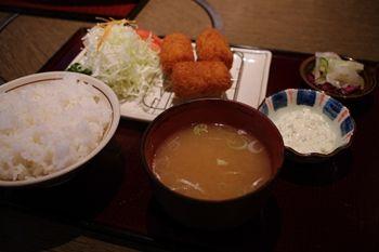 横浜石川町にある肉料理のお店「みずむら」のコロッケ