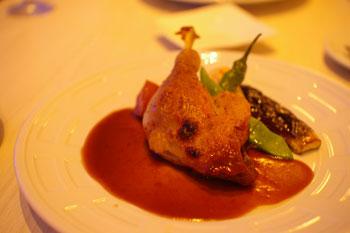 横浜みなとみらい「ブラッセリーハタ」の鴨もも肉